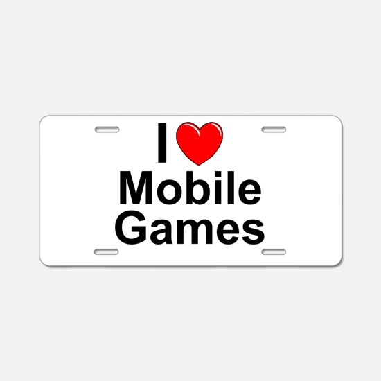 Mobile Games Aluminum License Plate