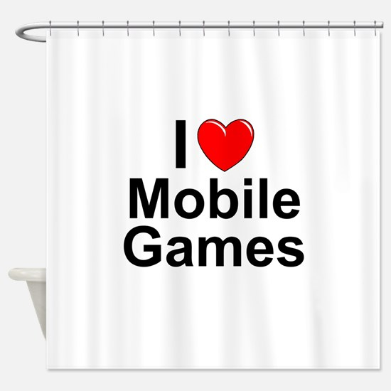 Mobile Games Shower Curtain