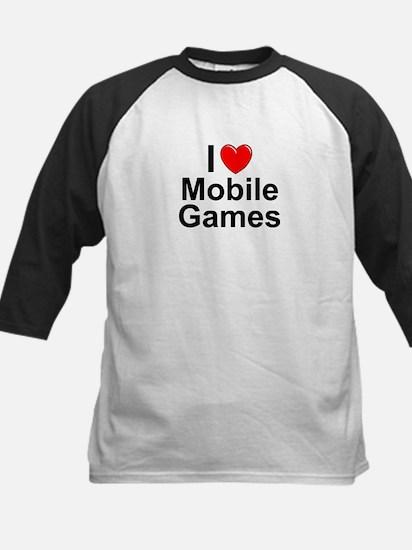 Mobile Games Kids Baseball Jersey