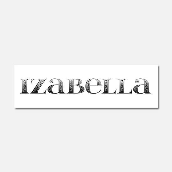Izabella Carved Metal 10x3 Car Magnet