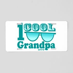 1 Cool Grandpa Aluminum License Plate