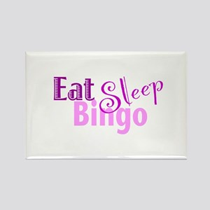 Eat Sleep Bingo Rectangle Magnet