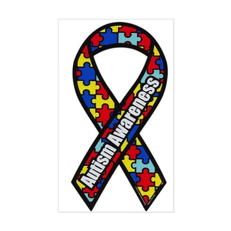 Autism Awareness Sticker  Rectangle  By Shimmers