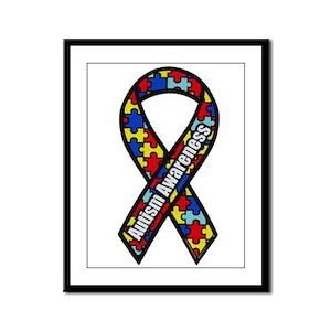 Autism Awareness Framed Panel Print