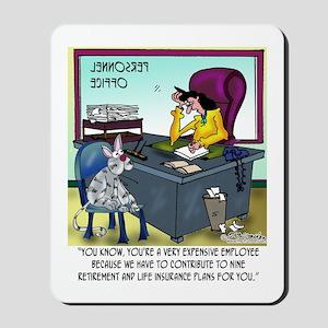Cat Has 9 Life Insurance Plans Mousepad