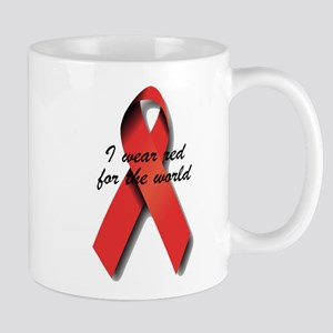I Wear Red For The World. Mug