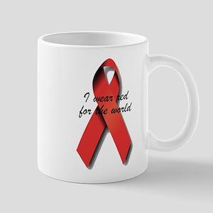 I Wear Red For The World. Mug