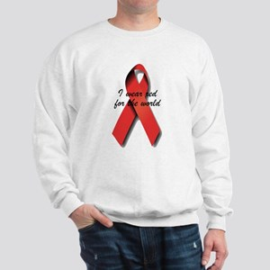 I Wear Red For The World. Sweatshirt