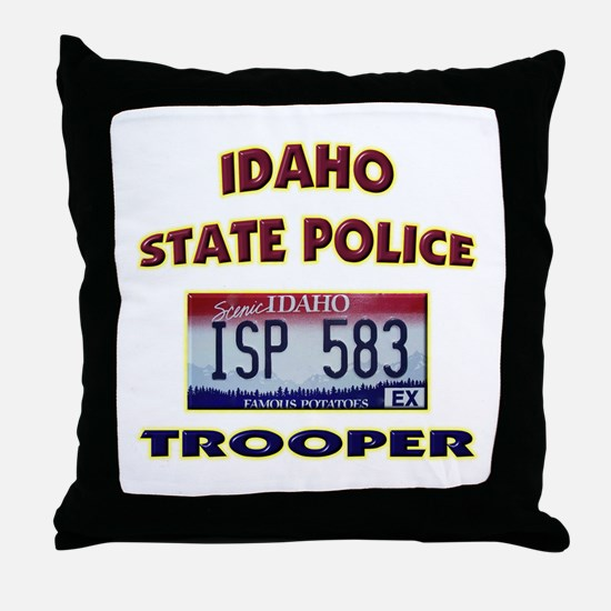 Idaho State Police Throw Pillow