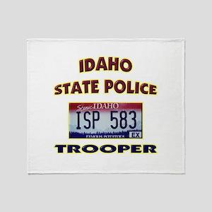 Idaho State Police Throw Blanket