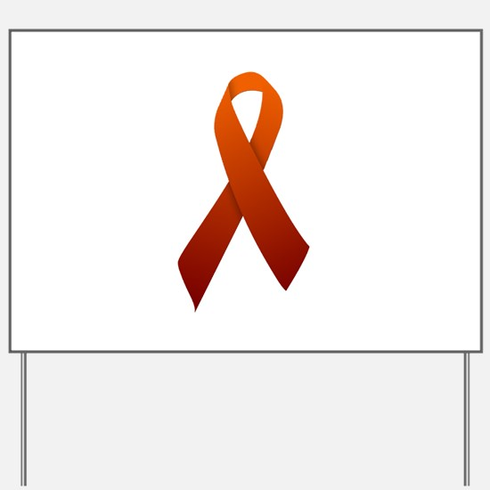 Orange Ribbon Yard Sign
