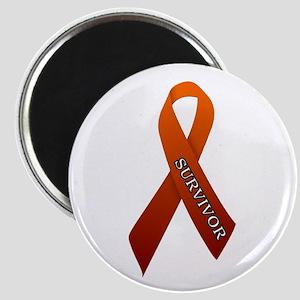 Orange Ribbon 'Survivor' Magnet