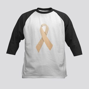 Peach Ribbon Kids Baseball Jersey