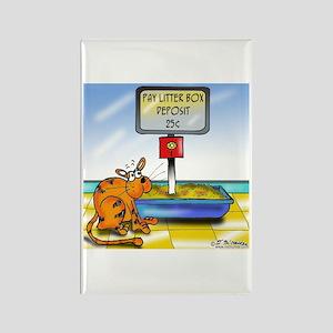 Pay Litter Box Rectangle Magnet