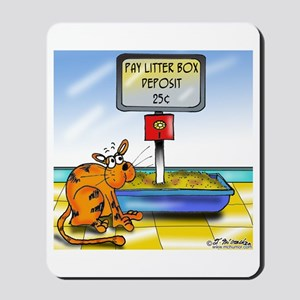 Pay Litter Box Mousepad