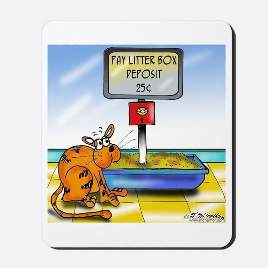 Pay Litter Box Mousepad
