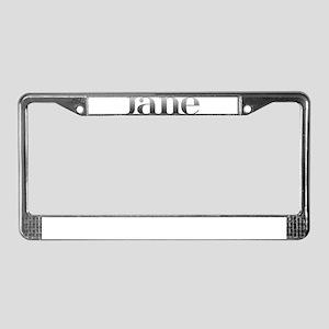 Jane Carved Metal License Plate Frame