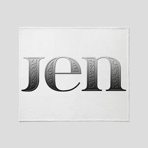 Jen Carved Metal Throw Blanket