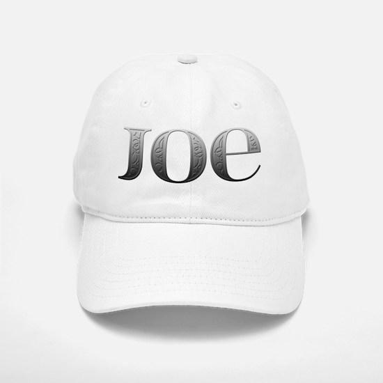 Joe Carved Metal Baseball Baseball Cap