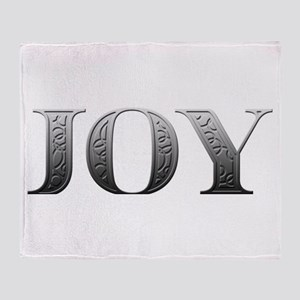 Joy Carved Metal Throw Blanket