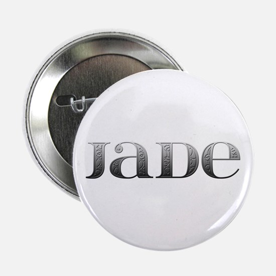 Jade Carved Metal Button