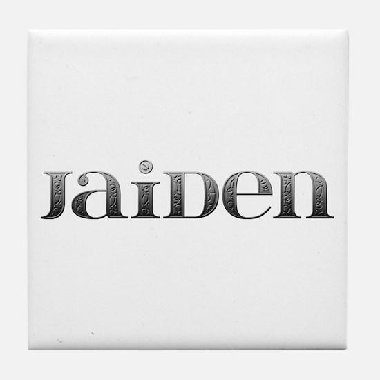 Jaiden Carved Metal Tile Coaster