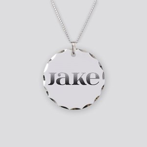 Jake Carved Metal Necklace Circle Charm