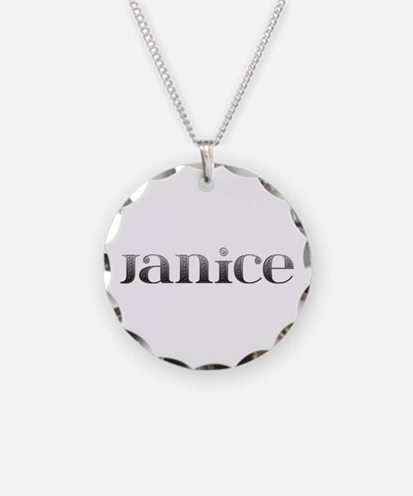 Janice Carved Metal Necklace
