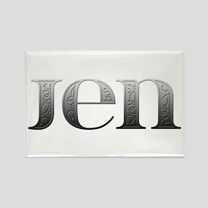Jen Carved Metal Rectangle Magnet