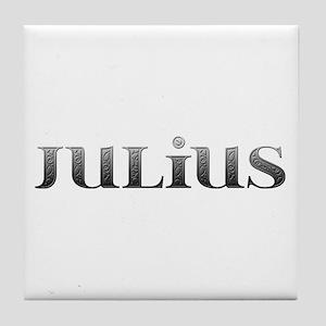 Julius Carved Metal Tile Coaster