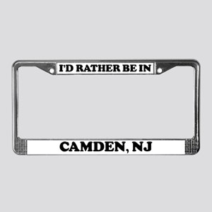 Rather be in Camden License Plate Frame