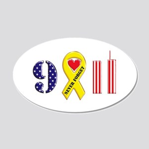 September 11 Anniversary 22x14 Oval Wall Peel