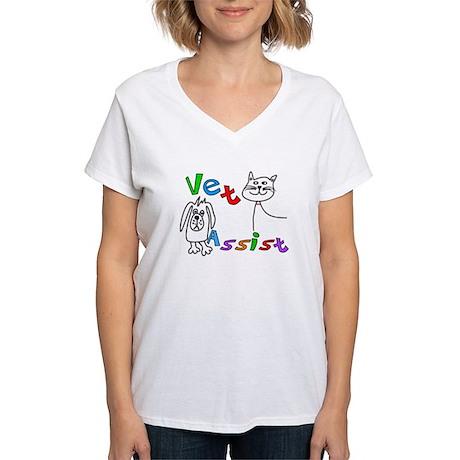 Veterinary Women's V-Neck T-Shirt