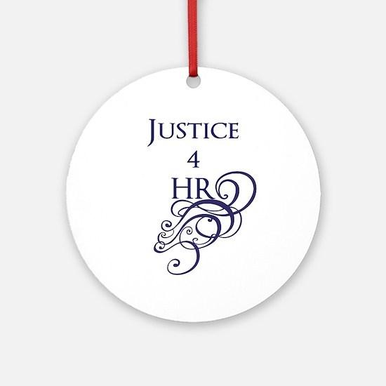 Justice4HR Swirl Ornament (Round)