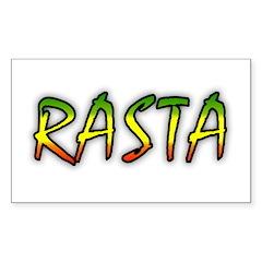 Rasta Sticker (Rectangle)