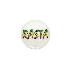 Rasta Mini Button (10 pack)