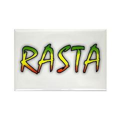 Rasta Rectangle Magnet (10 pack)