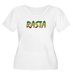 Rasta Women's Plus Size Scoop Neck T-Shirt