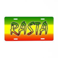 Rasta Aluminum License Plate