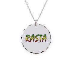 Rasta Necklace Circle Charm