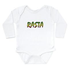 Rasta Long Sleeve Infant Bodysuit