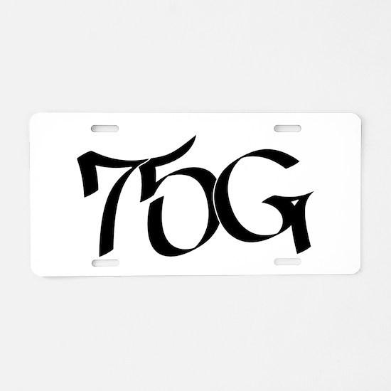 75G Graffiti Aluminum License Plate