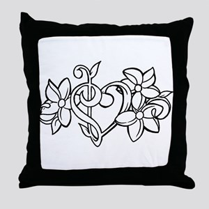 Bass and Trebel heart! Throw Pillow