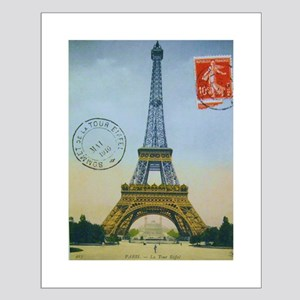 VINTAGE EIFFEL TOWER Small Poster