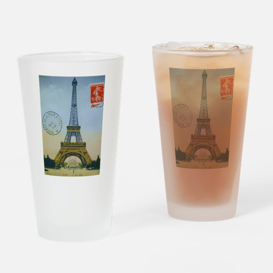 VINTAGE EIFFEL TOWER Drinking Glass