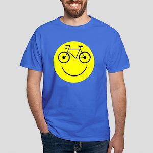 Smiley Cycle Dark T-Shirt