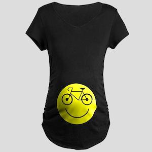 Smiley Cycle Maternity Dark T-Shirt