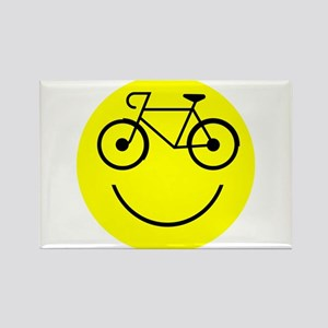 Smiley Cycle Rectangle Magnet