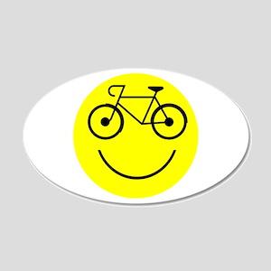 Smiley Cycle 22x14 Oval Wall Peel