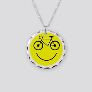 Smiley Cycle Necklace Circle Charm